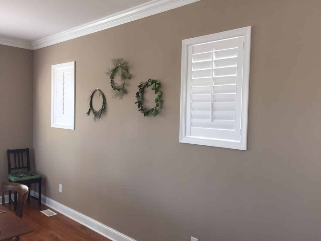plantation shutters on casement windows
