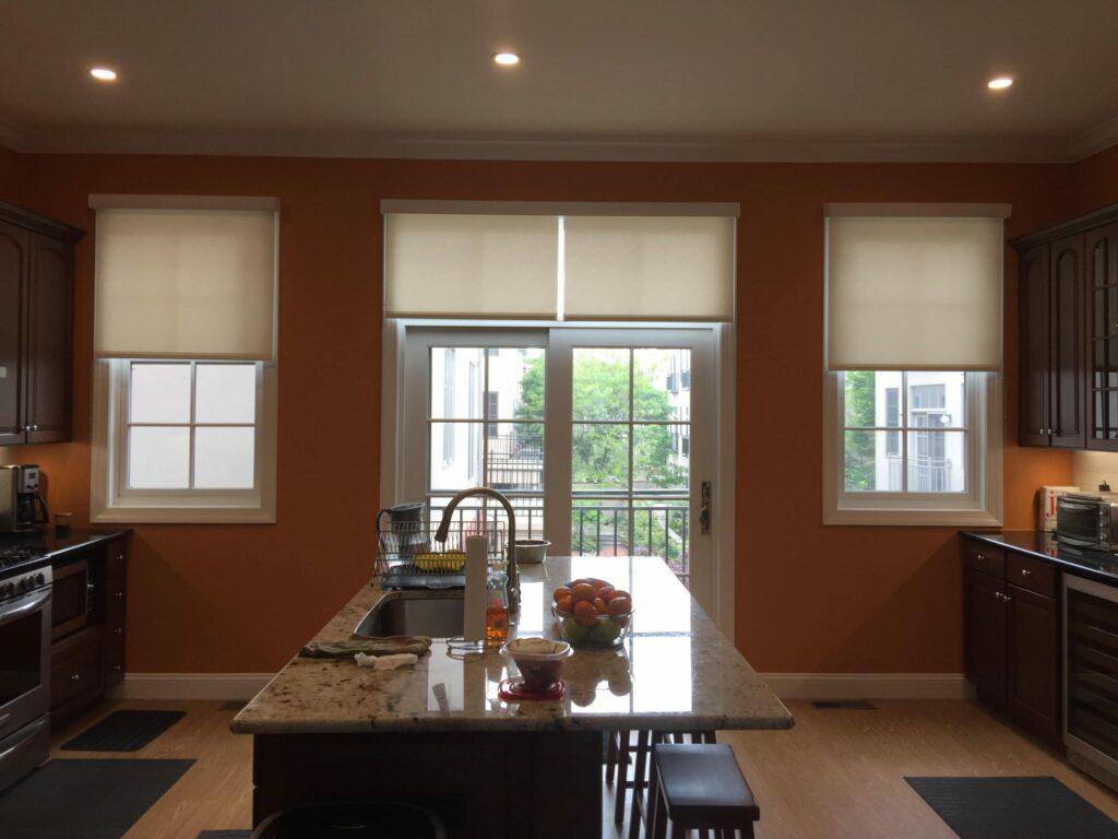 modern kitchen window blinds